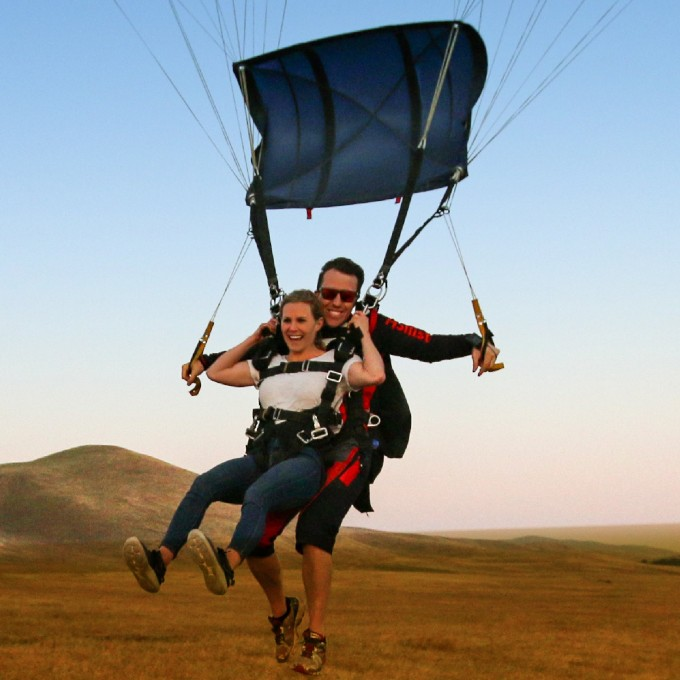 Tandem Skydiving near San Jose