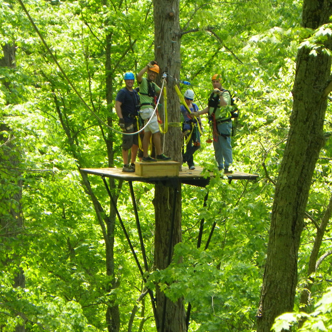 Zip through the Trees in Southern Indiana