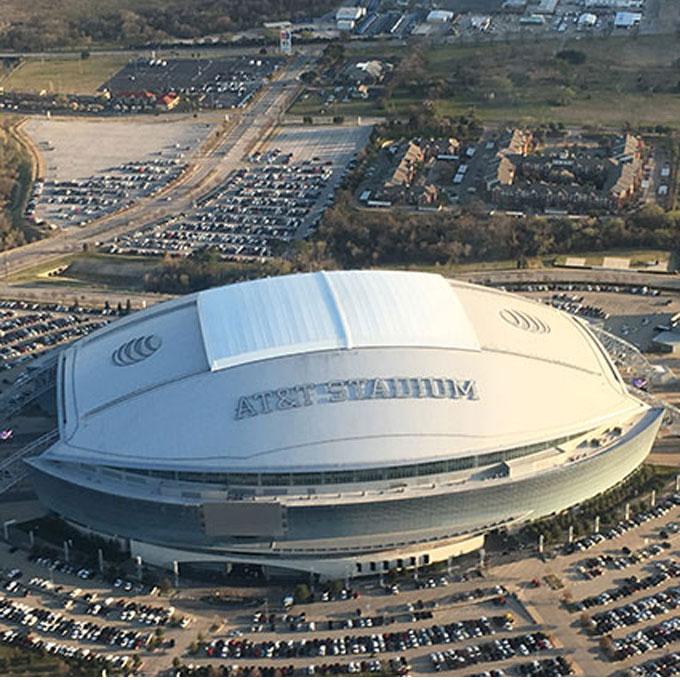 Aerial Tour over AT&T Stadium in Dallas