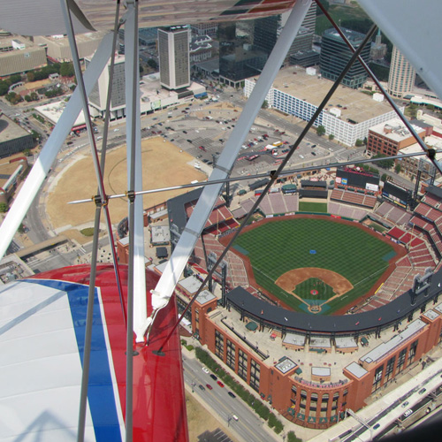 Biplane Ride over Busch Stadium