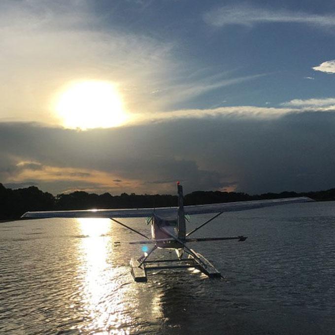 Sunset Sightseeing Flight in a Seaplane near Orlando, FL