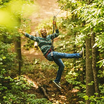 Ultimate Zip Line Adventure Course near St Louis