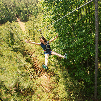 Zip Lining Near Richmond