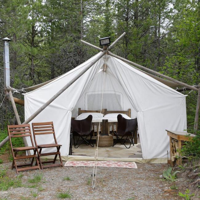 Safari Tent near Glacier National Park