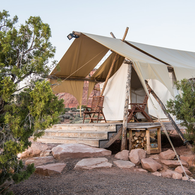 Luxury Camping in a Safari Tent