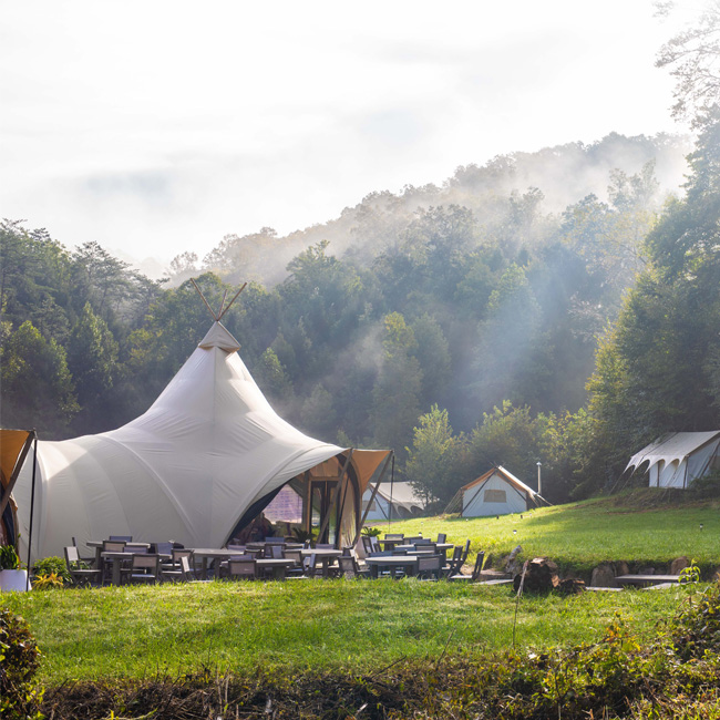 Luxury Campground in the Smoky Mountains