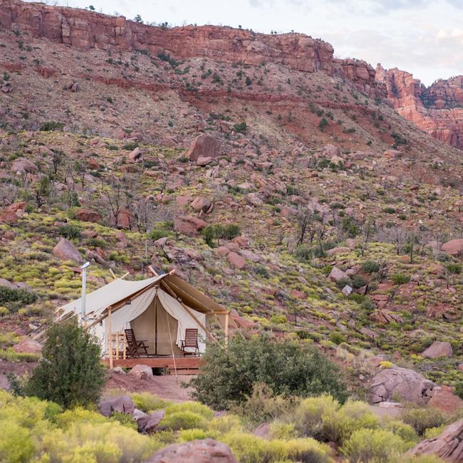 Glampground near Zion National Park
