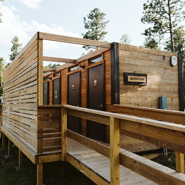 Communal Restrooms on Luxury Campground