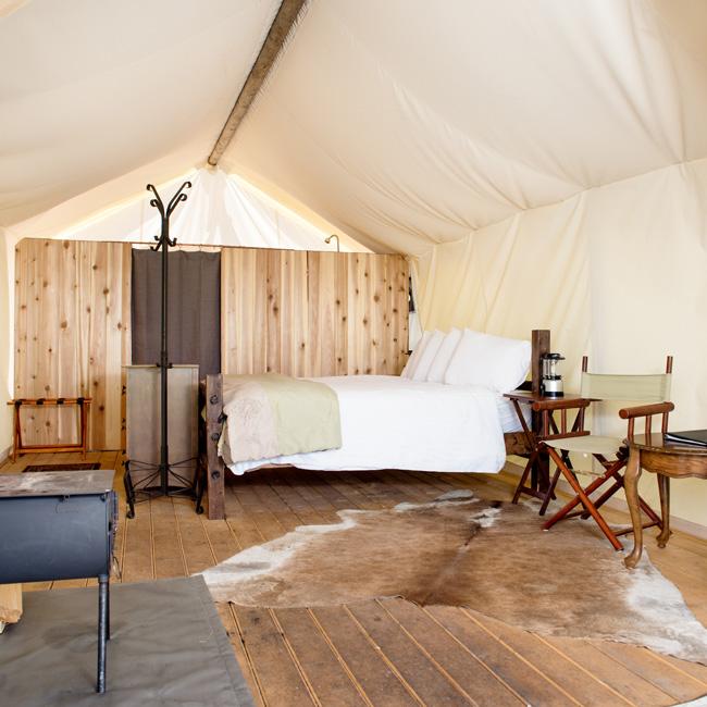 Luxury Safari Tent near Yellowstone National Park