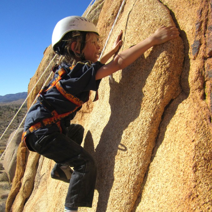 Beginner Rock Climbing Class in Joshua Tree National Park, CA