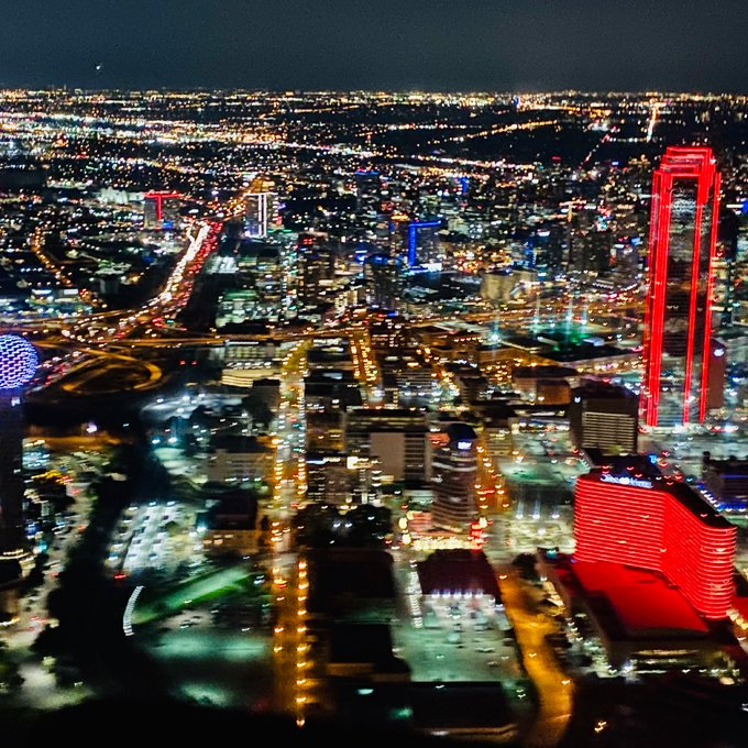Helicopter Tour at Night in Dallas