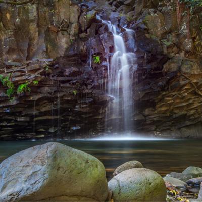 Scenic Maui Waterfall