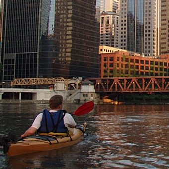 Night Paddle in Chicago