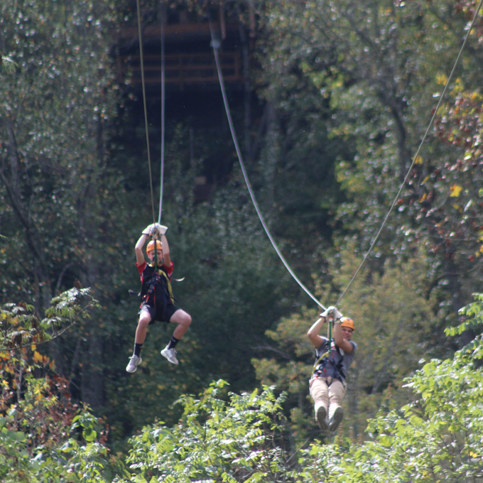 Ziplining and Waterfall Tour near Pigeon Forge