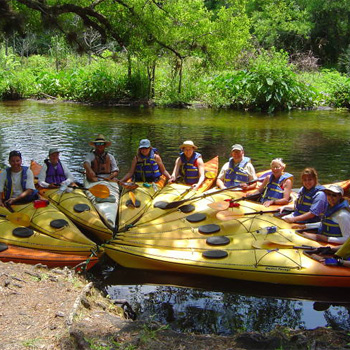Group during Wekiva River Kayak Tour