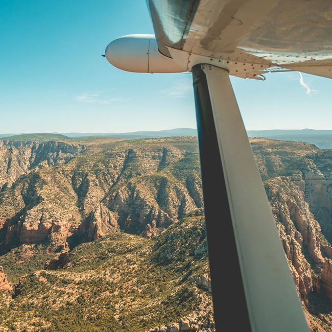 Airplane Tour Over Grand Canyon
