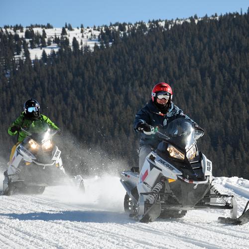 High Speed Snowmobiling
