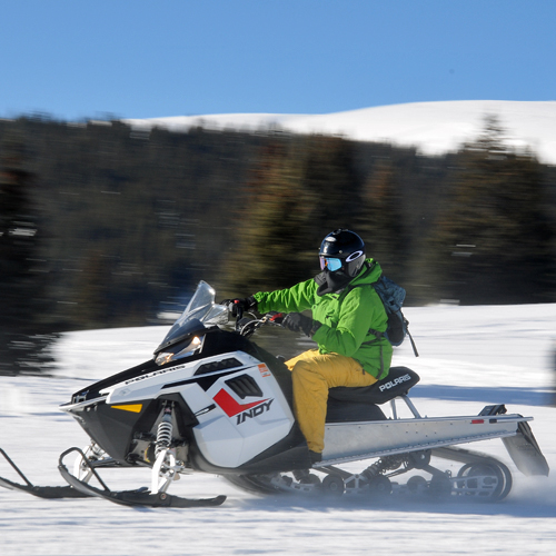Leadville High Speed Snowmobiling