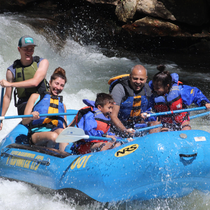 Whitewater Rafting on the Nantahal River in NC