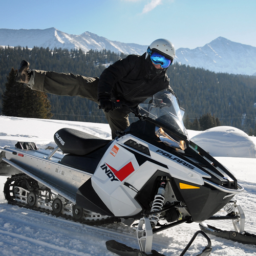 Snowmobiling in the Rockies