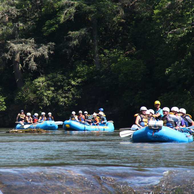 Whitewater Rafting on Chattooga River in SC & GA