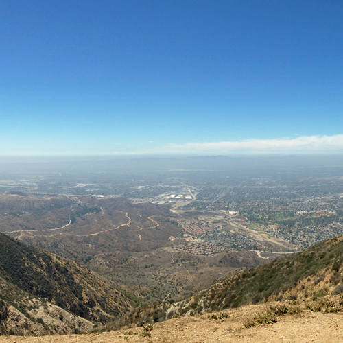 Scenic Views of LA from Hang Gliding Flight