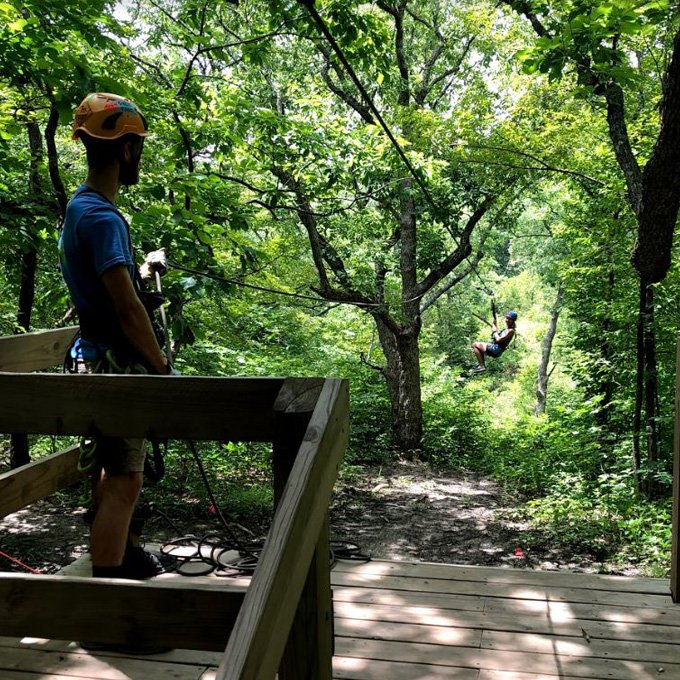 Zip Through the Trees in Bonner Springs