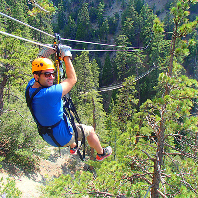 Ziplining in Southern California