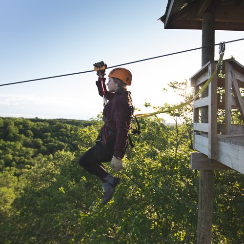 Ziplining near Minneapolis