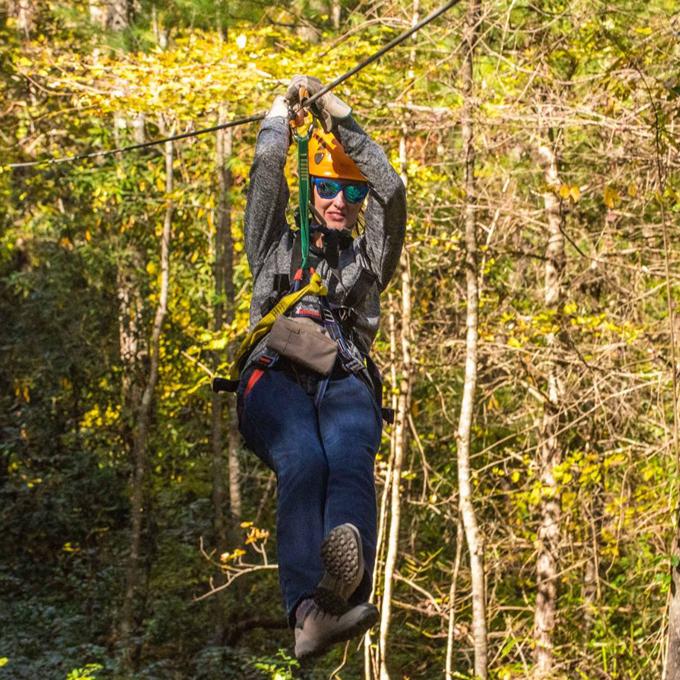 Ziplining in Bryson City, NC