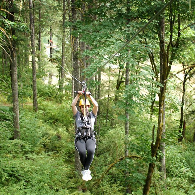 Treetop Zipline Experience near Portland