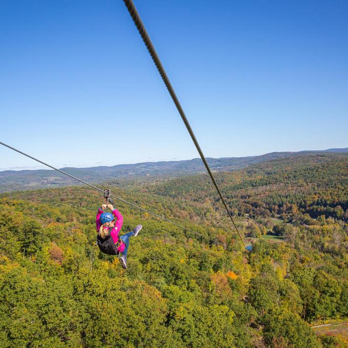 Guided Ziplining Tour in Massachusetts