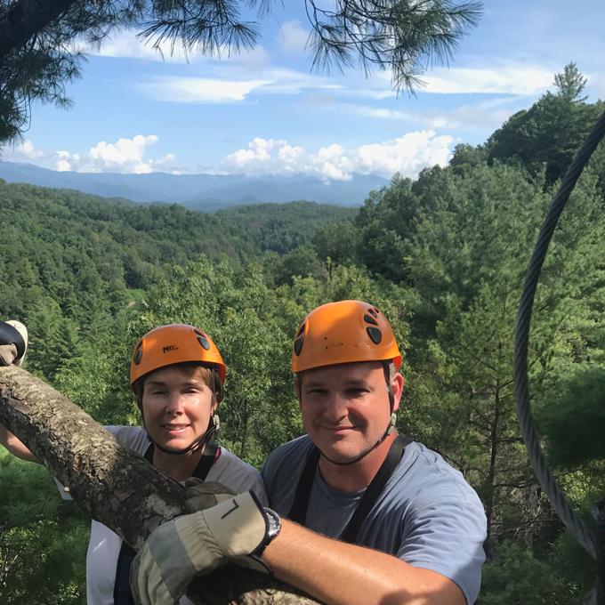 Zipline Adventure in the Nantahala Gorge area