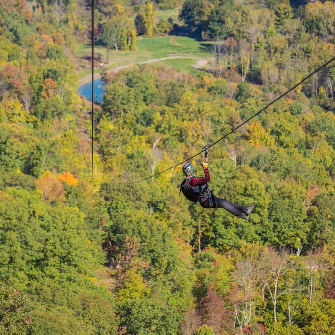 Guided Zipline Experience in MA
