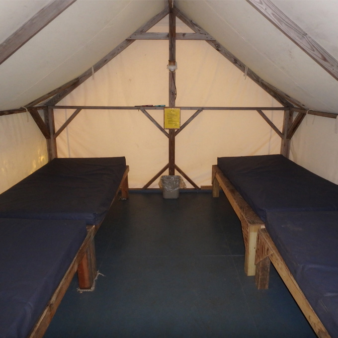 Overnight Cabin Tent Accommodations