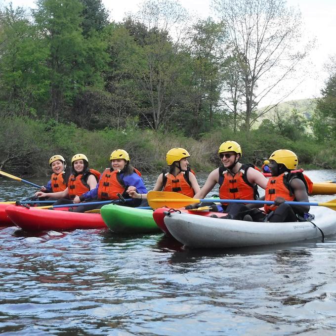 Kayaking on Deerfield River