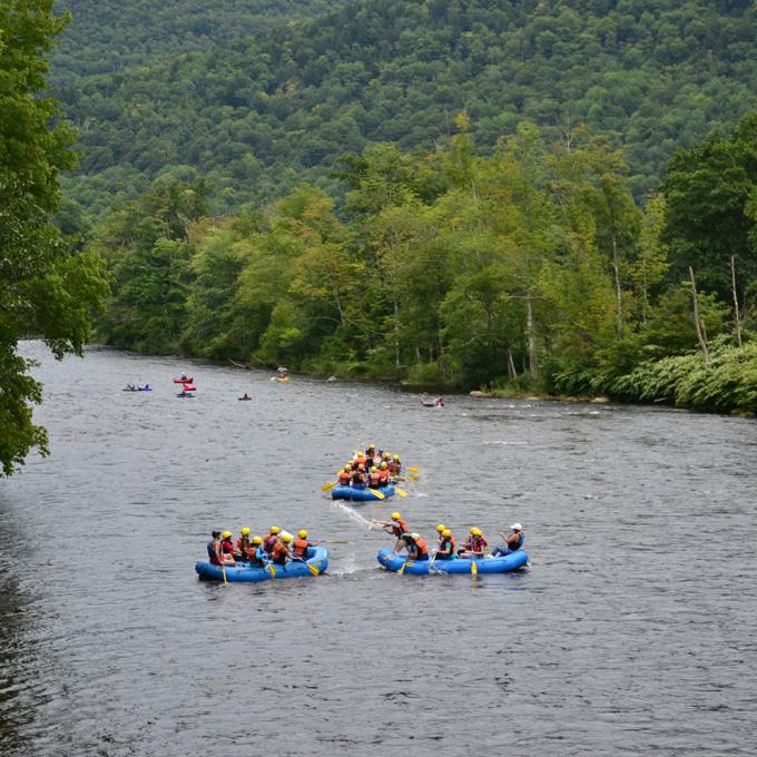 Rafting down the Deerfield River